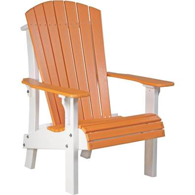 LuxCraft Poly Royal Adirondack Chair Tangerine & White