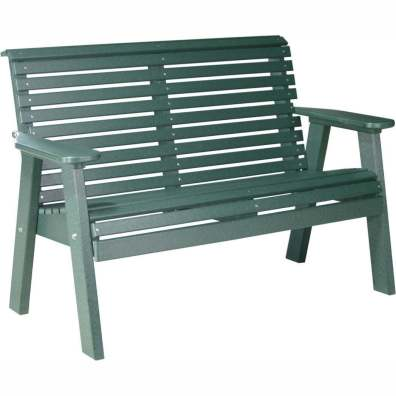 LuxCraft Poly 4' Plain Bench Green