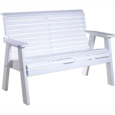 LuxCraft Poly 4' Plain Bench White