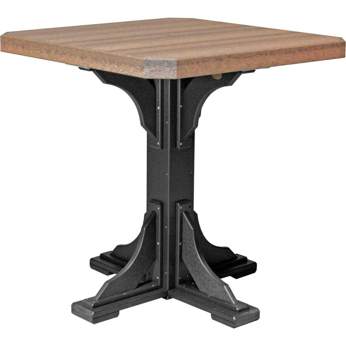 P41STAMB Poly 41'' Square Table (Antique Mahogany & Black) Bar Height
