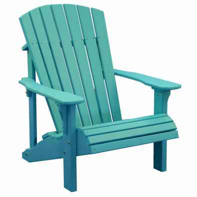 LuxCraft Poly Deluxe Adirondack Chair Aruba Blue