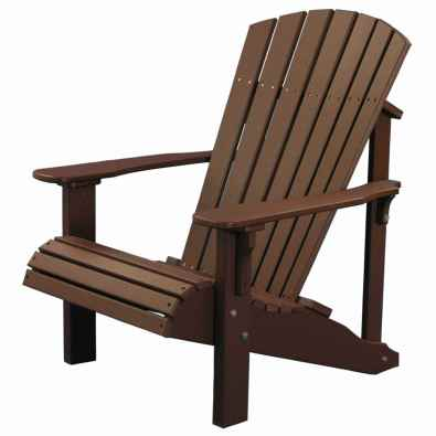 LuxCraft Poly Deluxe Adirondack Chair Chestnut Brown