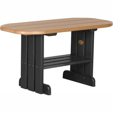 LuxCraft Poly Coffee Table Cedar & Black
