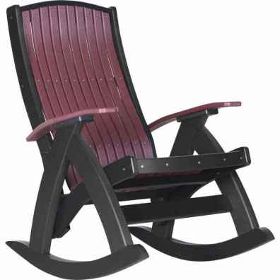 LuxCraft Poly Comfort Rocker Cherrywood & Black