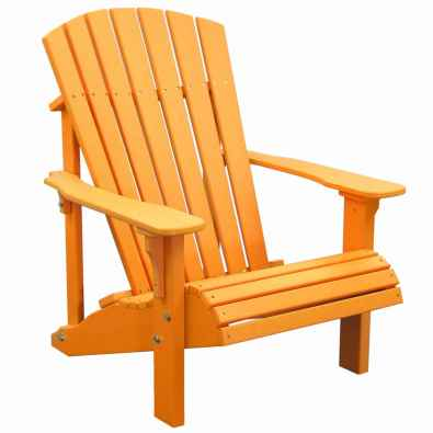 LuxCraft Poly Deluxe Adirondack Chair Tangerine