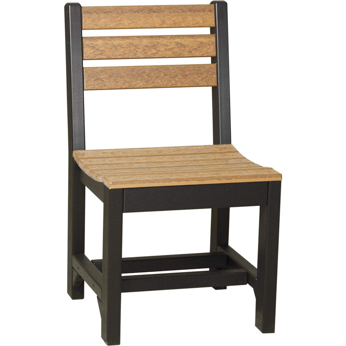 ISCDAMB Island Side Chair Dining Height (Antique Mahogany & Black)