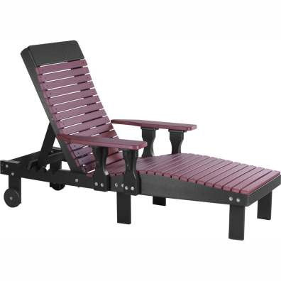 LuxCraft Poly Lounge Chair Cherrywood & Black