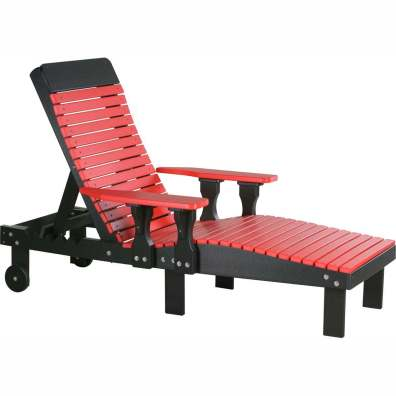 LuxCraft Poly Lounge Chair Red & Black