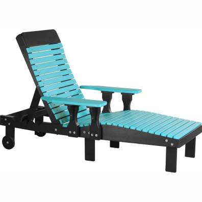 LuxCraft Poly Lounge Chair Aruba Blue & Black