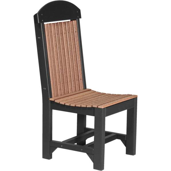 PRCDAMB Poly Regular Chair Dining Height (Antique Mahogany & Black)