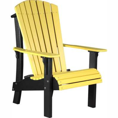 LuxCraft Poly Royal Adirondack Chair Yellow & Black