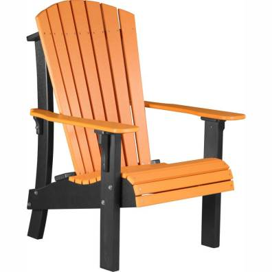 LuxCraft Poly Royal Adirondack Chair Tangerine & Black