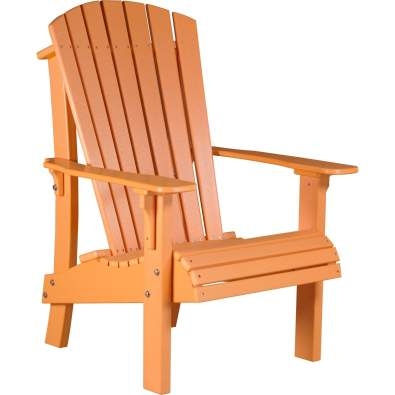 LuxCraft Poly Royal Adirondack Chair Tangerine