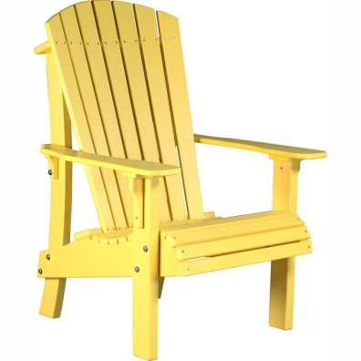 LuxCraft Poly Royal Adirondack Chair Yellow