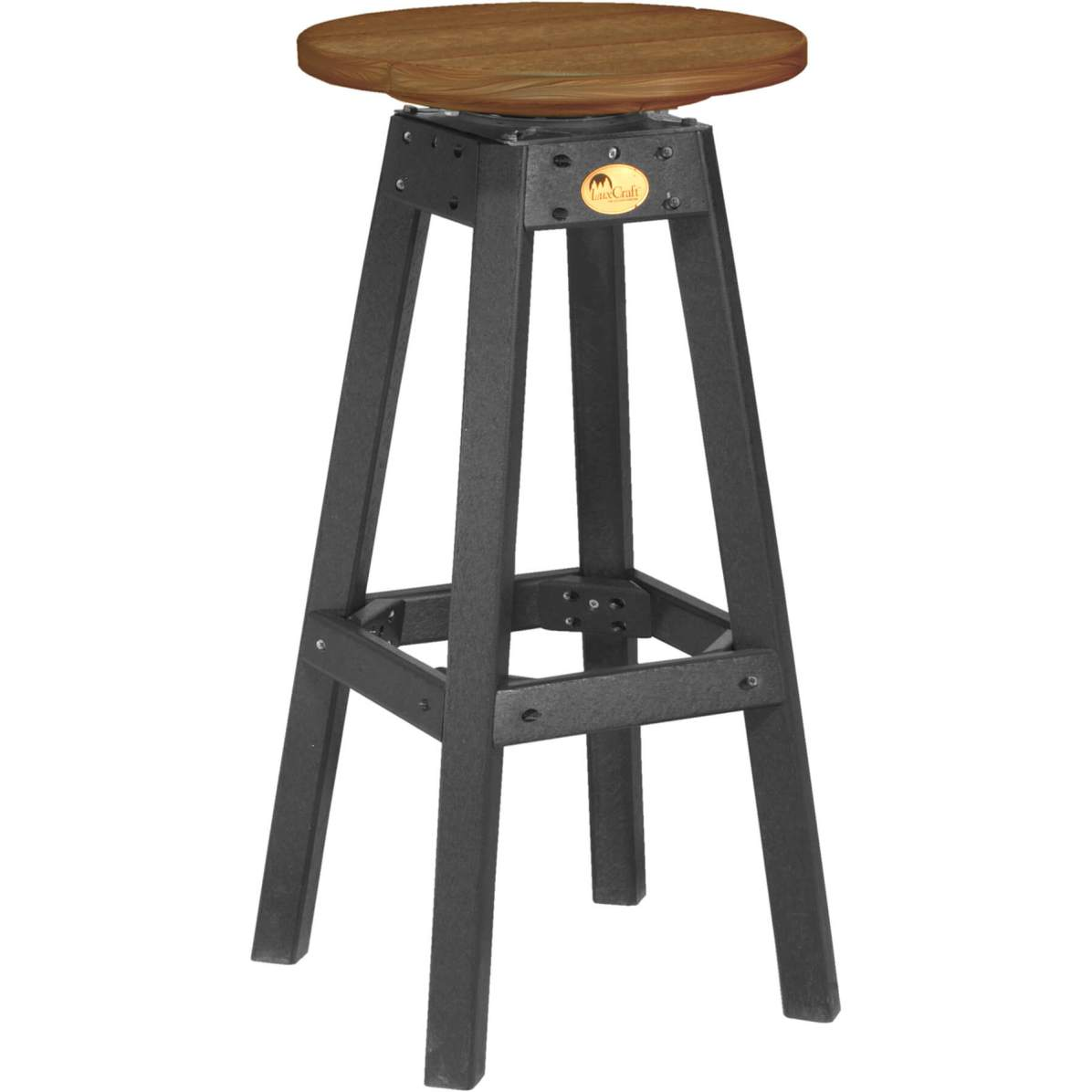 PBSAMB Poly Bar Stool (Antique Mahogany & Black)