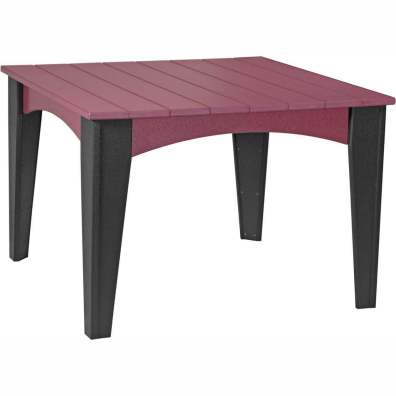 Island Dining Table (44 Square) Cherrywood & Black