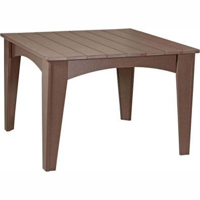 Island Dining Table (44 Square) Chestnut Brown