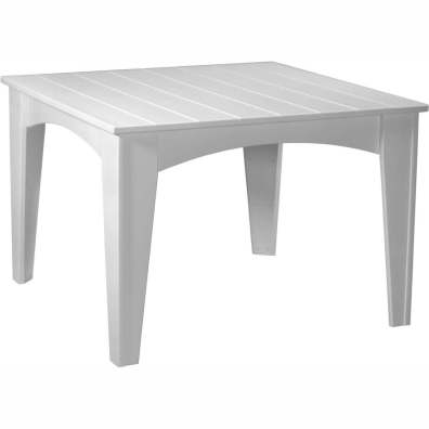 Island Dining Table (44 Square) White