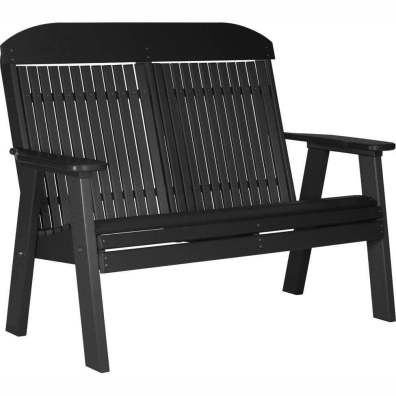 LuxCraft Poly 4' Classic Bench Black