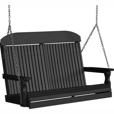 LuxCraft Poly 4' Classic Swing Black