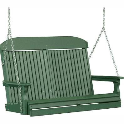 LuxCraft Poly 4' Classic Swing Green