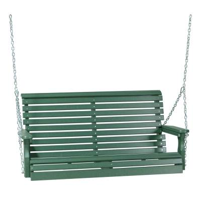 LuxCraft Poly 4' Plain Swing Green