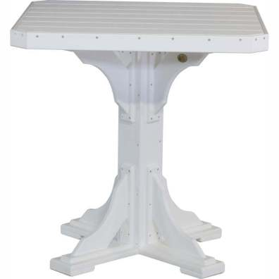 "LuxCraft Poly 41"" Square Table Bar Height White"