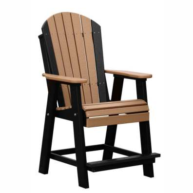 LuxCraft Poly Adirondack Balcony Chair Cedar & Black