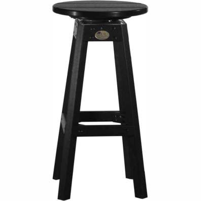 LuxCraft Poly Swivel Bar Stool Black