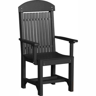 LuxCraft Poly Captain's Chair Dining Height Black