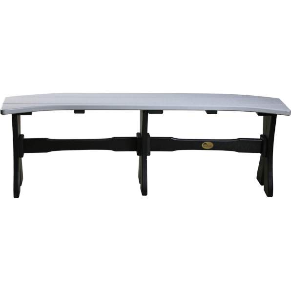 LuxCraft Poly 52'' Table Bench Dove Gray & Black