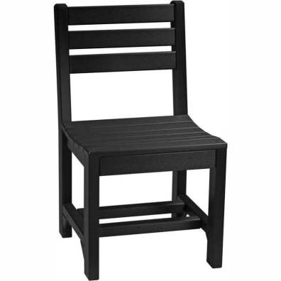 LuxCraft Poly Island Side Chair (Dining Height) Black