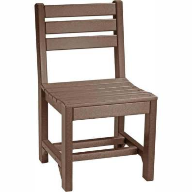 LuxCraft Poly Island Side Chair (Dining Height) Chestnut Brown