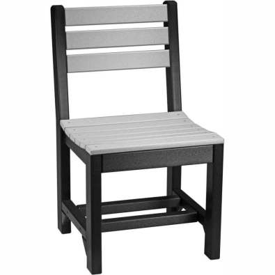 Poly Side Chair Dining Height Dove Gray & Black