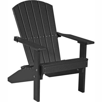 LuxCraft Poly Lakeside Adirondack Chair Black