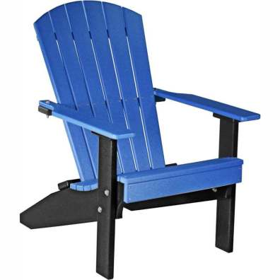 LuxCraft Poly Lakeside Adirondack Chair Blue & Black