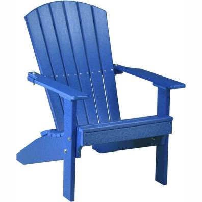LuxCraft Poly Lakeside Adirondack Chair Blue
