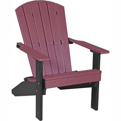 LuxCraft Poly Lakeside Adirondack Chair Cherrywood & Black