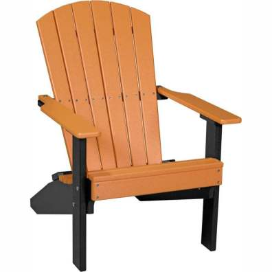 LuxCraft Poly Lakeside Adirondack Chair Tangerine & Black