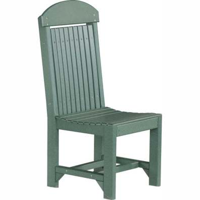 LuxCraft Poly Regular Chair Dining Height Green