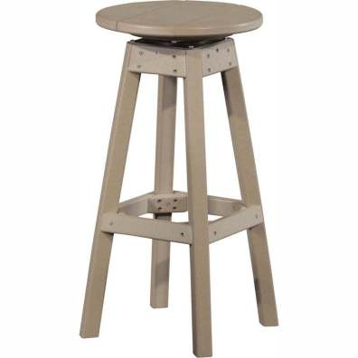 LuxCraft Poly Swivel Bar Stool Wheatherwood