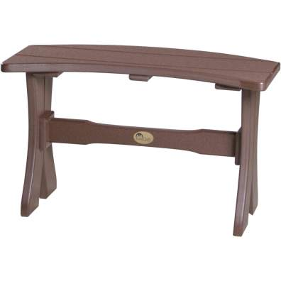 LuxCraft Poly 28'' Table Bench Chestnut Brown