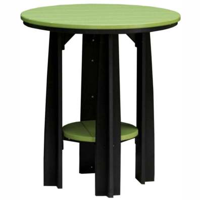 "LuxCraft Poly 36"" Balcony Table Lime Green & Black"