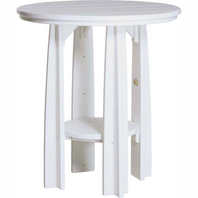 "LuxCraft Poly 36"" Balcony Table White"