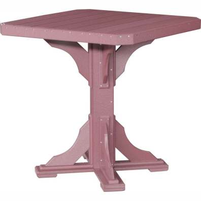 """LuxCraft Poly 41"""" Square Table Bar Height Cherrywood"""