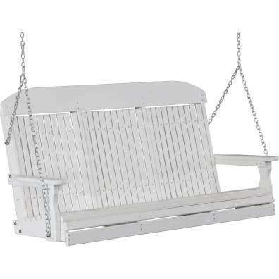 LuxCraft Poly 5' Classic Swing White