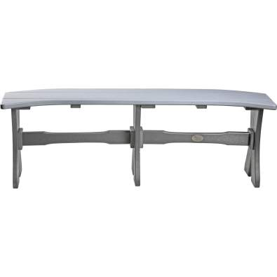 LuxCraft Poly 52'' Table Bench Dove Gray & Slate