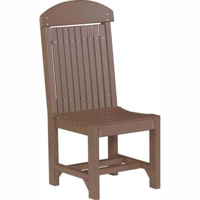 LuxCraft Poly Regular Chair Dining Height Chestnut Brown