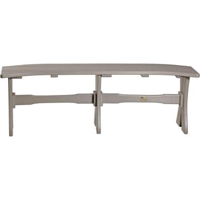 LuxCraft Poly 52'' Table Bench Weatherwood