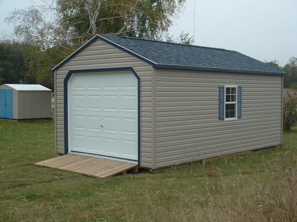 The Studio Garage 12x20 Vinyl Siding